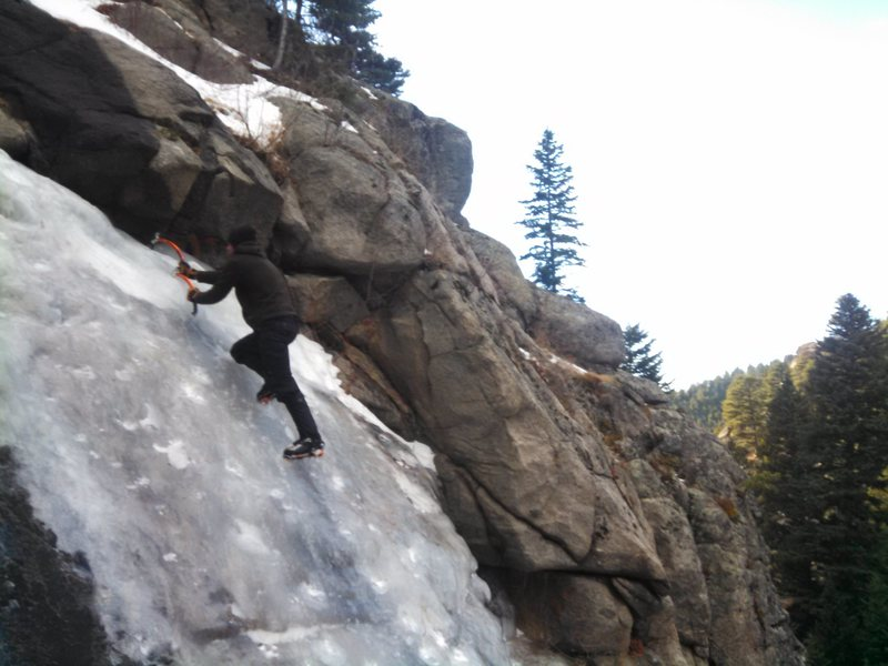 Rock Climbing Photo: Castle rock ice.
