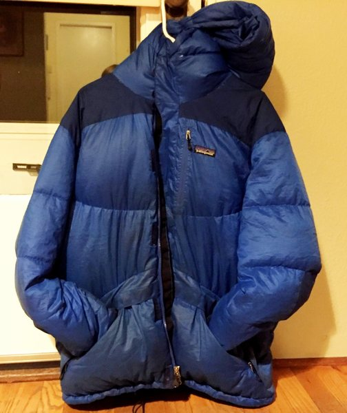 Rock Climbing Photo: patagonia down jacket