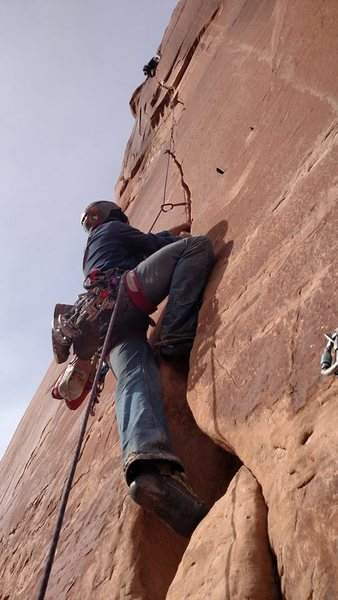 Rock Climbing Photo: me on medi man