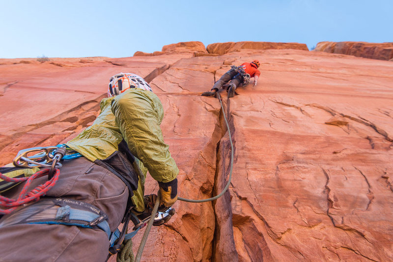 J Peabody, 2nd pitch on the first ascent