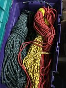 Rock Climbing Photo: Tendon 7.9mm Ambition Red/Yellow on the right