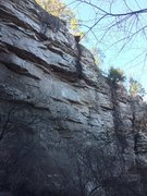 """Rock Climbing Photo: RIght side of Fern Gulley. """"Back to the Featu..."""