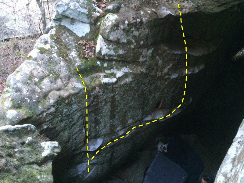 Rock Climbing Photo: Neverland, left side. Left to right: Schmee, Capta...