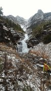 Rock Climbing Photo: Mt Brown right gully 12-5-15