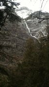 Rock Climbing Photo: on the way to Avalanche Lake. West face of Mt Clem...