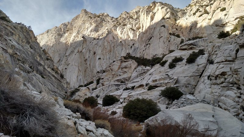 Rock Climbing Photo: the wall on the east side of the south fork of the...
