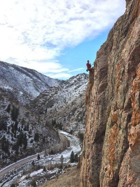 Rock Climbing Photo: At the anchors of BAH.