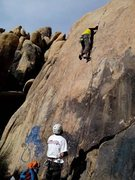 Rock Climbing Photo: super fun slab, pretty sustained the whole way up ...