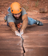 Rock Climbing Photo: Phil Binnema gets the onsight