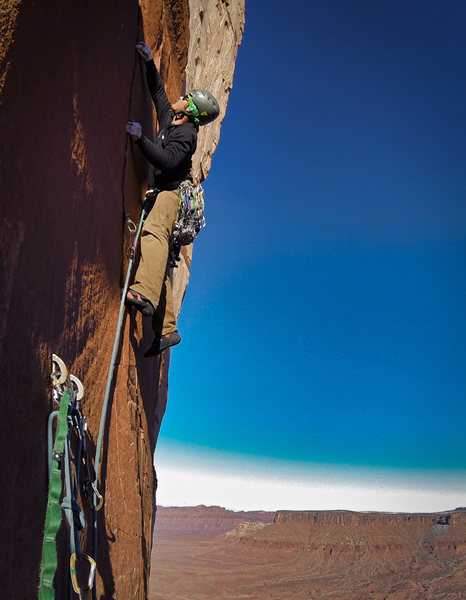Great climbing on pitch 2