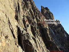 Rock Climbing Photo: Mt Kenya Southeast Face Nice sunny start in NH win...