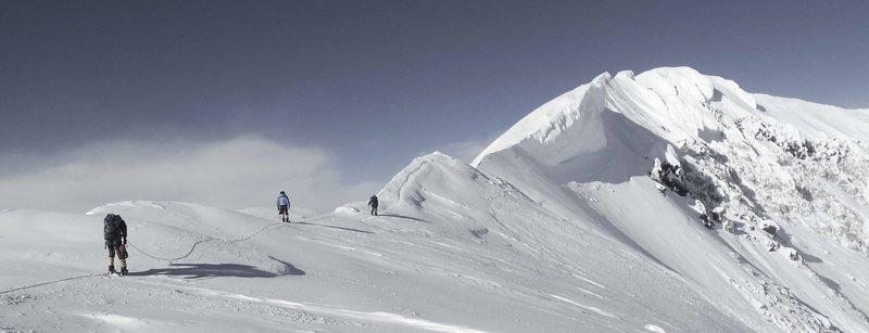 Rock Climbing Photo: Approaching the summit of Denali