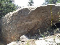 Rock Climbing Photo: Frito Bandito, V5, goes up center of the boulder.
