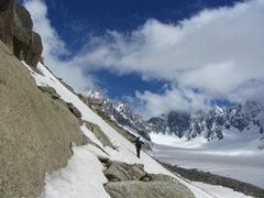 Rock Climbing Photo: approaching the hut
