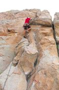 Rock Climbing Photo: couple moves up