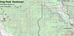 Rock Climbing Photo: Frog Peak Map