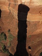 Rock Climbing Photo: The shadow silhouette.