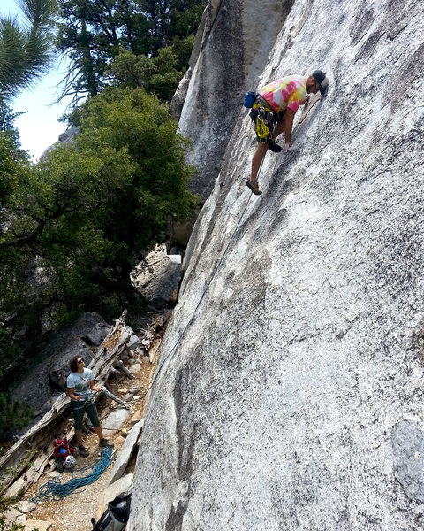 Rock Climbing Photo: Mantle right before the first bolt.