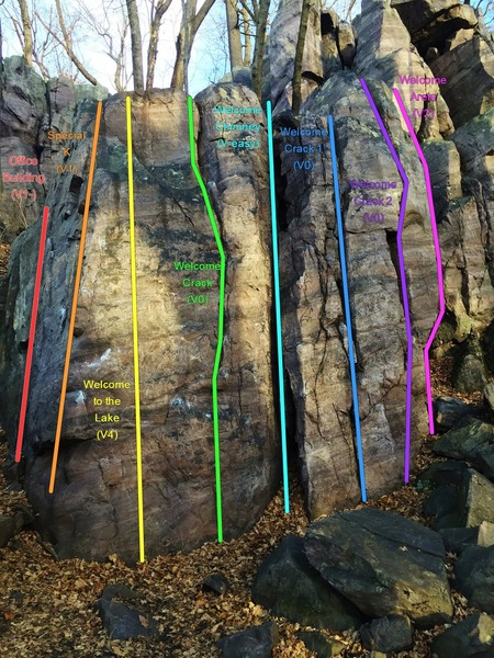 Rock Climbing Photo: Welcome to the Lake area routes.