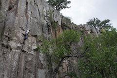 Rock Climbing Photo: Whole route.