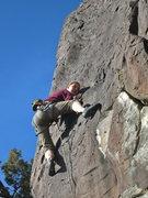 Rock Climbing Photo: Kira Engle on the fun finish of Sunny Side Up, 5.8...