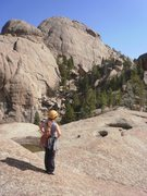Rock Climbing Photo: On the way to Acid Rock from the top of Helen's.  ...