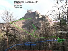 Rock Climbing Photo: Darren Mabe's photo-map has a few details added in...