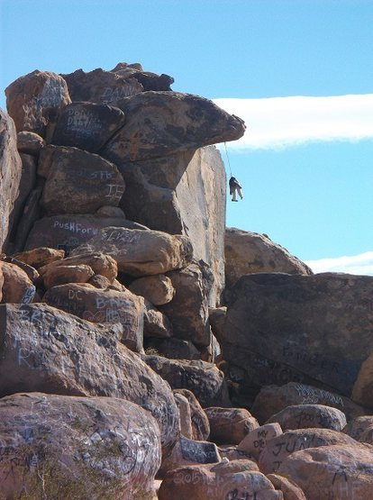 Rock Climbing Photo: What a dummy for getting stuck out there like that...