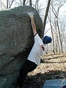 Rock Climbing Photo: Early attempt on Believing is Seeing.