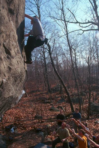 Rock Climbing Photo: Dave Graham on the FA.