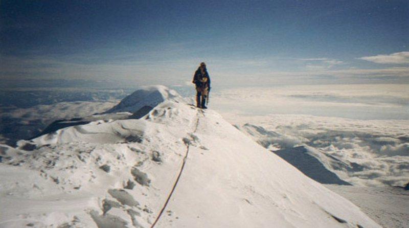 Mike on Denali summit ridge