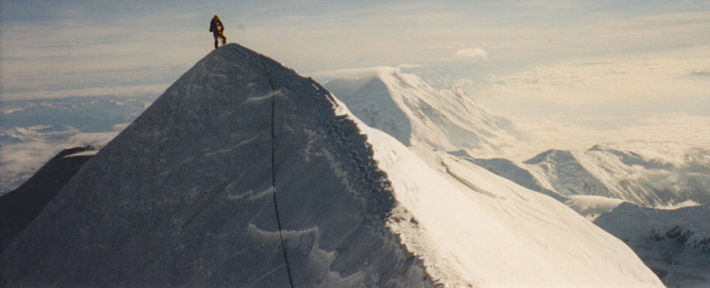 Mike on Denali summit ridge 2