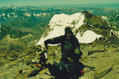 Rock Climbing Photo: Mike on Aconcagua