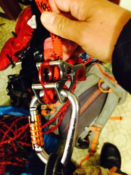 "Rock Climbing Photo: Mammut smart ""failure"" mode"