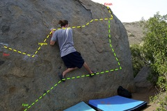 Rock Climbing Photo: left to right while staying halfway up till you ge...