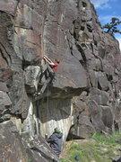 Rock Climbing Photo: Terran Engle, I-Chi-Hua-Hua, 12b (April 2014)