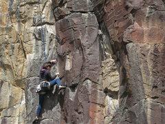 Rock Climbing Photo: Supe Vitali, Run for the Border, 11b. (April 2014)