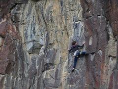 Rock Climbing Photo: Supe Vitali,Run for the Border, 11b (April 2014)