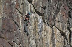 Rock Climbing Photo: Jeff Giese, Pretty Woman, 11a.  (Nov 2015)