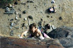 Rock Climbing Photo: Mike Engle, Pretty Woman, 11a (1995).