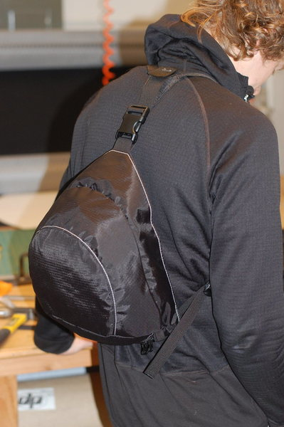 Rock Climbing Photo: Floating lid backpack