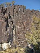 Rock Climbing Photo: Mike Engle nearing the top anchors of Zorro.  Full...