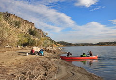 Rock Climbing Photo: Snake River Access landing at the put out below th...