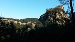 Rock Climbing Photo: View from Samland. The North Lump is in the foregr...