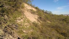 Rock Climbing Photo: Loose scree.