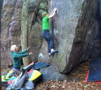Rock Climbing Photo: And up