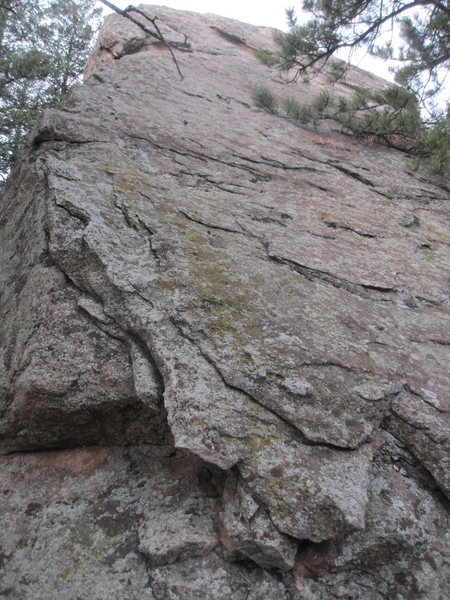 Downclimb, east face.
