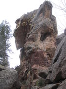 """Downclimb, west face (this is why they call it """"downclimb"""")."""
