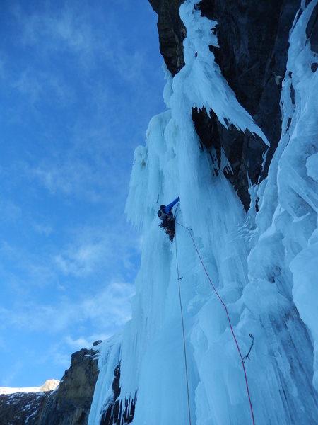 Rock Climbing Photo: Pitch 2.  Photo: Nate Erickson