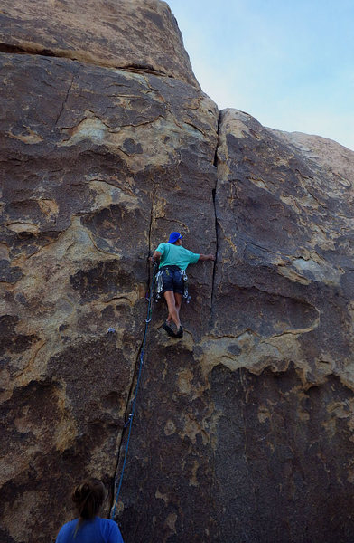 Rock Climbing Photo: Engaging fun, up one crack and then sidesteps to a...